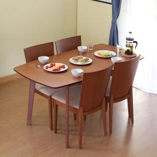 【RICHOME】安索尼可延伸實木餐桌椅組-1桌4椅-2色(宅+組)