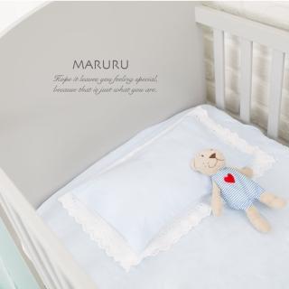 【MARURU】日本製嬰兒床單 嬰兒藍 70x120(日本製嬰兒寶寶baby床單/適用台式60x120/日式70x120嬰兒床墊)
