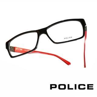 【POLICE】義大利警察都會款個性型男眼鏡(POV1772M700R -紅)
