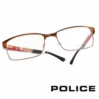 【POLICE】義大利警察都會款個性型男眼鏡(POV8797MK01X  紅)