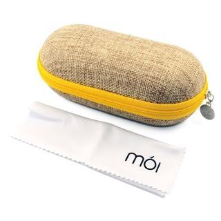 【moi】北歐設計棉麻多功能收納盒(moi6001 黃)