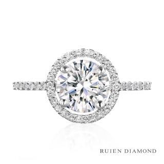【RUIEN DIAMOND】GIA50分 3EX D VVS1(18K白金 鑽石戒指)