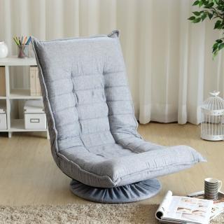 【EASY HOME】360度旋轉多段和室椅(淺灰色)