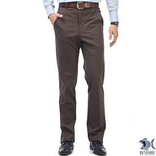 【NST JEANS】獵裝式休閒感 咖啡色斜口袋冬季男西裝褲-中腰(390-5582)