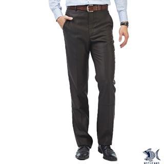 【NST JEANS】查斯特上校 羊毛深咖啡男斜口袋西裝褲-中腰(390-5586)