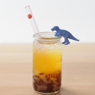 【美國strawesome】手工玻璃吸管/寬口直式-淺粉(蜜桃粉)