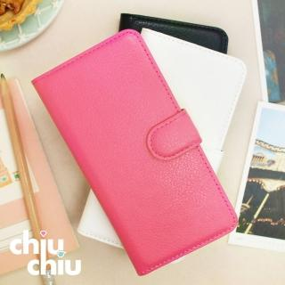 【CHIUCHIU】Apple iPhone 8、SE二代荔枝紋側掀式可插卡立架型保護皮套(4.7吋)