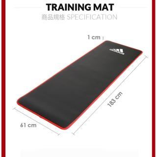 【adidas 愛迪達】Training 專業加厚訓練運動墊-紅色(10mm)