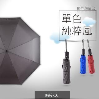 【德國boy】抗UV 防風三折晴雨自動傘(純粹-藍 紅 灰)(boy 晴雨傘 抗UV傘 防風傘 自動傘)