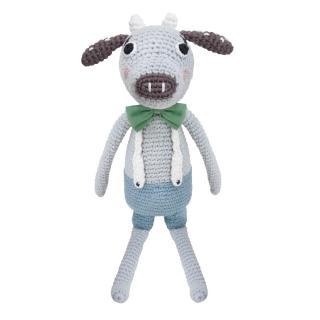 【sebra】小牛鉤針娃娃-藍色