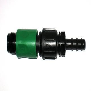 【灑水達人】六分外牙轉16mm PE管轉接頭5個