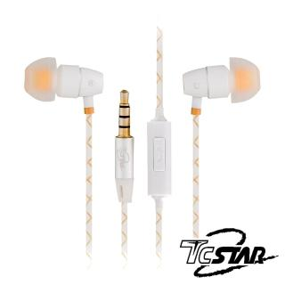 【T.C.STAR】入耳式耳機麥克風/白色(TCE5020WE)