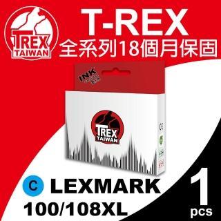 【T-REX霸王龍】Lexmark 100/108XL C 藍色 相容墨水匣(適用S301/302/305)