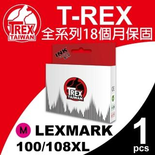 【T-REX霸王龍】Lexmark 100/108XL M 紅色 相容墨水匣(適用S301/302/305)