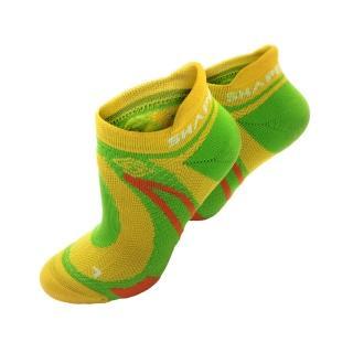 【SHAPER MAN】極限越野運動襪-黃綠((S-M 22-25cm)(機能運動襪))