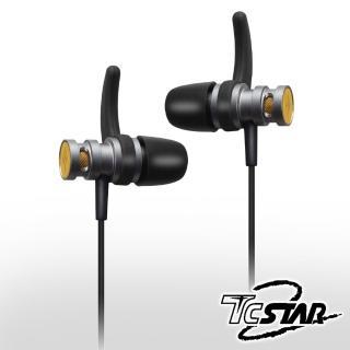 【T.C.STAR】動節奏入耳式耳機麥克風/黑色(TCE6120BK)