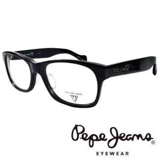 【Pepe Jeans】英倫時尚簡約風格造型光學眼鏡(PJ734101M001 黑)