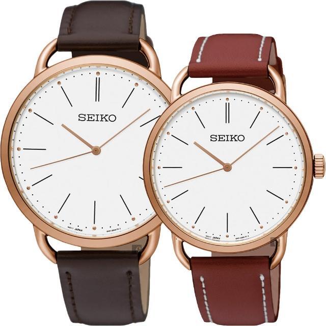 【SEIKO 精工】城市時尚薄型對錶-38+35mm(SUR234P1+SUR238P1)