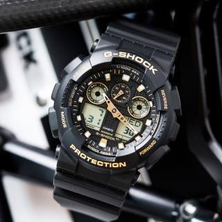 【CASIO 卡西歐】G-SHOCK 街頭時尚必備潮流錶(GA-100GBX-1A9DR)