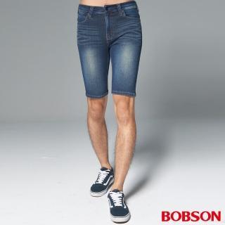 【BOBSON】男款1971日本黑標針織短褲(BSH017-WD)
