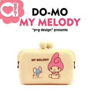 【p+g design】日本進口 DO-MO X My Melody 繽紛矽膠零錢包/卡片夾/收納包(香草)