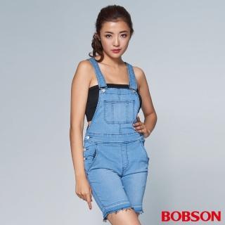 【BOBSON】女款1971日本黑標吊帶短褲(BSL006-FE)