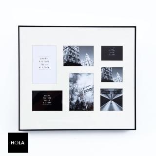 【HOLA】馬克斯7格基本款兩用相框 黑