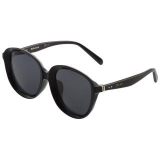 【CELINE】復古內凹 太陽眼鏡(黑色CL41453)
