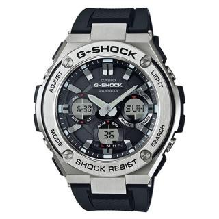 【CASIO 卡西歐】G-SHOCK 絕對強悍防震分層防護構造雙顯錶(GST-S110-1A)
