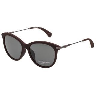 【Calvin Klein (CK)】小貓眼 太陽眼鏡CKJ514SAF-256(霧面咖啡)
