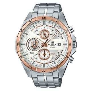 【CASIO 卡西歐】EDIFICE 都會時尚西裝穿搭指針腕錶(EFR-556DB-7A)