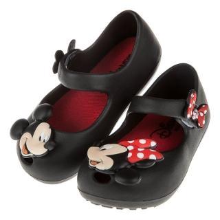 【布布童鞋】Disney迪士尼米奇米妮兩小無猜黑色輕便公主涼鞋(D7P007D)