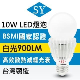 【SY 聲億科技】超廣角 LED 10W 燈泡 白光12入組(CNS認證版)