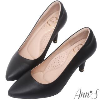 【Ann'S】危險迷人3D氣墊頂級羊皮尖頭高跟鞋(黑)