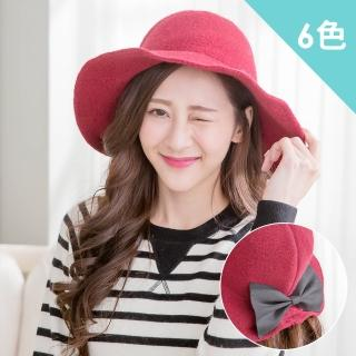 【Wonderland】日系蝴蝶結羊毛混紡針織帽(6色)