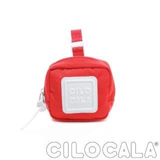 【CILOCALA】亮彩尼龍防潑水可扣式零錢包(紅色)