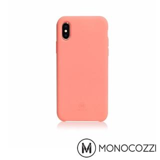 【MONOCOZZI】SoftTouch iPhone X 液態矽膠防污保護殼(珊瑚粉)