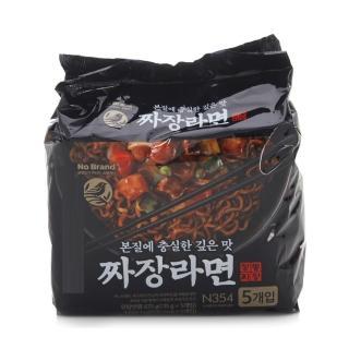 【韓國NOBRAND】經典炸醬拉麵675公克135公克X5包(韓國最大的超市Emart-自有品牌)