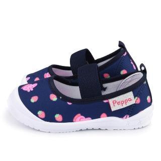 【童鞋城堡】佩佩豬 中童 草莓造型休閒室內鞋(PG8531-藍)