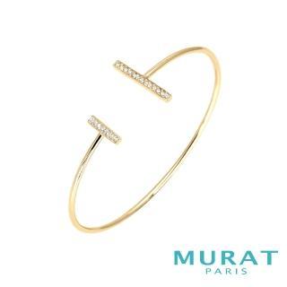 【MURAT Paris 米哈巴黎】法國輕珠寶 極簡雙排鑽手環 金色款(103924.1)