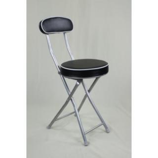 【Brother】丹堤有背折疊椅1入裝(黑色)