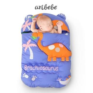 【ARIBEBE】韓國手工嬰兒保暖防踢睡袋包巾(五色)