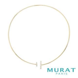 【MURAT Paris 米哈巴黎】法國輕珠寶 極簡雙排鑽頸圈 金色款(102721.1)