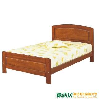 【綠活居】普魯特  時尚3.5尺實木單人床台(不含床墊)