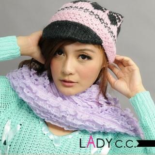 【Lady c.c.】青春冬戀小酒窩造型毛帽(粉)