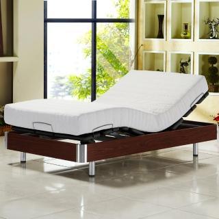 【睡芝寶】線控 五星級居家歐式電動床組單人-3.3尺寬(床墊-正面軟反面硬-免煩惱-)