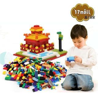 【17mall】兒童益智玩具繽紛創意DIY 1000pcs小積木組(顏色隨機)