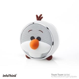 【InfoThink】TSUM TSUM玩音樂藍牙燈光喇叭(雪寶 Olaf 交換禮物首選)