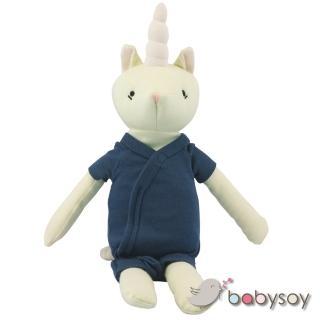 【Babysoy】有機棉動物造型安撫玩偶 - 668(夢幻獨角獸-靛藍)