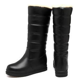 【Kidsfam】冬季戀歌絨毛防水長筒內增高太空靴(大人全尺碼)